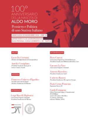 100° anniversario della nascita di Aldo Moro